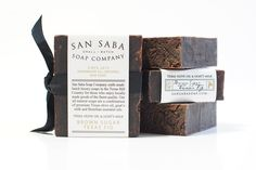 Farmhouse all natural luxury bath shower soaps from designer San Saba Soap Company in the Texas Hill Country.