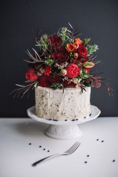 Red Velvet Cake with Chocolate Chip Buttercream. YUM. Cakes: The Cocoa Cakery - http://thecocoacakery.com Planning: Affairy Events - affairyevents.com/ Photography: Purple Tree - http://purpletree.ca Flowers: Caprice Design Decor - http://capricedesign.com