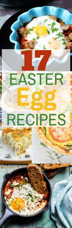 If you're searching for Easter inspiration, here are 17 Easter Egg Recipes for Brunch that are always a hit. From make-ahead casseroles to savory quiches, baked egg cups and eggs simmered in sauce, this collection of easy egg recipes will make any brunch special. #brunchrecipes, #eggrecipes, #easterrecipes, #eastereggs, #easter, #easterbrunch, #easterbrunchrecipes, #savorybrunchrecipes, #eggs, #shakshuka, #bakedeggs, #quiche, #vegetarian, #breakfast, #hash, #poachedeggs, #scrambledeggs…
