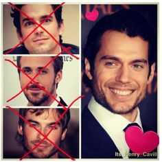 Yep, Henry Cavill IS Christian Grey  I love IAN too; but Henry is GORGEOUS!!