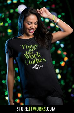 Work Clothes Bling Shoulder Tee, Love my company gives us such cool clothes to choose from! Follow me @ WRAPSVIAERIN on Instagram, It Works with Erin on Facebook!