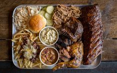 The Grillstock Grand Champion Challenge. Full rack ribs 1/2 chicken pulled pork brisket bbq beans mac n cheese chilli cheese fries & other bits [OC] [4295x2702]