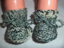 Babyschuhe gestrickte 50/56 Schurwolle Baby Schuhe