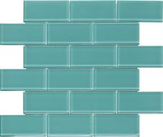 Subway Glass Tile Turquoise 2x4 mesh mounted on a 12x12 fiberglass sheet for an easy installation. It is suitable for bathroom walls, shower, kitchen backsplash, swimming pool, and featured wall. This