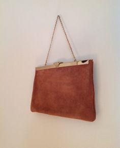 Vintage Brown Suede Purse/Handbag/Clutch by Etra by modluv on Etsy, $23.50