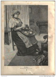 """Der Kranz - Druck, ausgeschnitten   aus """"die Gartenlaube"""", 1897"""