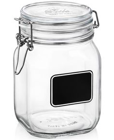 Bormioli Rocco Fido Chalk Label Large Jar, 33.75 oz. - Serveware - Dining & Entertaining - Macy's - in stock
