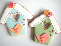 casitas de pajaritos - cookies