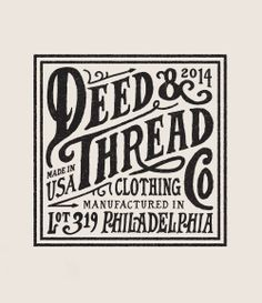 Deed & Thread Tag by Steve Wolf