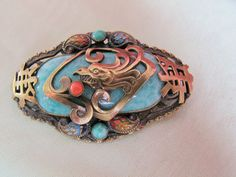 max neiger czech art deco chinese-style brooch | eBay