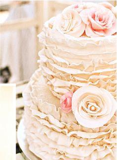 Rustic Wedding Cake. Needs different flowers