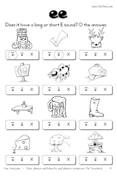 Printables Vowel Digraph Worksheets english worksheet vowel digraphs ee ea pinterest diphthong worksheets and digraph printable for long combinations ea