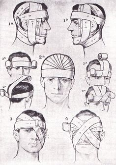 First aid bandaging techniques.  Richards Topical Encyclopedia, 1962
