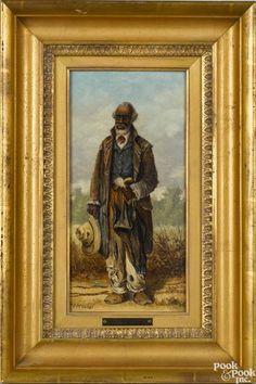 William Aiken Walker (American 1838-1921), oil on board of an African American man - Price Estimate: $3000 - $5000