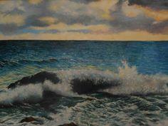 """Mar"" óleo, autor : Maria Noemi"