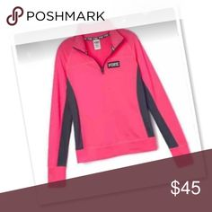 VS Pink Ultimate Fair Condition Size Large Ultimate Half Zip PINK Victoria's Secret Tops
