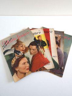 Magazines vintage 1949 lot de 5 Marie France no par BrocAndPop