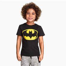 Meninos t-shirt dos desenhos animados Batman meninos T da criança t-shirt de manga curta crianças(China (Mainland))
