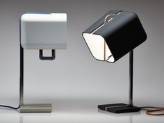 Daast's Aligned Lamp (2013) features a 360-degree rotation and is made of CNC-milled aluminum, rubber-coated ABS, cloth cord, 360 degree rotation.