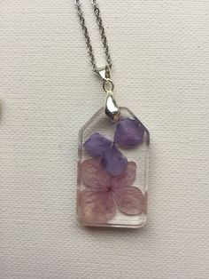 Hydrangea Petal Rosin Necklace by ShellsArtGarden on Etsy Hydrangea, Jewelry Collection, Pendant Necklace, Trending Outfits, Unique Jewelry, Handmade Gifts, Etsy, Vintage, Products
