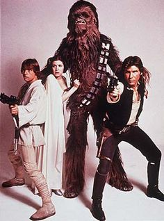Our 4 heroes; Luke, Leia, Chewie and Han.