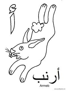 A Crafty Arab: Arabic Alphabet coloring pages...Alif is for Arrnab
