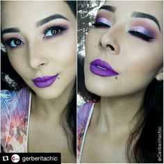 Purple vibes with @gerberitachic!  She's wearing Madly Matte Lipstick in Wild Orchid and Brow Pomade in Deep Brown.  #repost #kleancolor #madlymatte #madlymattelipstick #matte #lipstick #wildorchid #lip #purple #browpomade #deepbrown #brows #eyebrows #mua #makeup #cosmetics #beauty