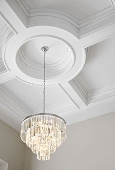 Canamould had the pleasure of supplying the materials for the crown moulding cei. Canamould had the pleasure of supplying the materials for the crown moulding ceiling trim and coffe Ceiling Crown Molding, Ceiling Trim, Ceiling Detail, Wall Molding, Ceiling Design, Wall Design, Ceiling Lights, Moulding, Paint Ceiling