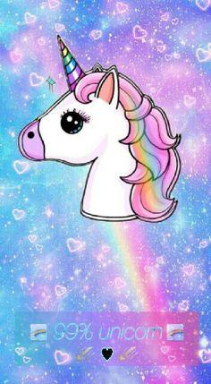 Unicorn Wallpaper Cute, Kawaii Wallpaper, Cute Wallpaper Backgrounds, Pretty Wallpapers, Cute Rainbow Unicorn, Cute Unicorn, Unicorn Fantasy, Unicorn Art, My Little Unicorn