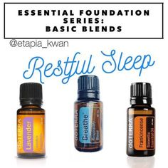 My essential foundation series is a great way to learn how to use DoTERRA's top 10 oils as part of your daily routine. This blend of Lavender, Breathe, and Frankincense promotes a restful nights sleep.  This blend works great when added to a diffuser in your bedroom at night. Add 1-2 drops of each to your diffuser. You can also make a 10 ml roller and apply to the bottoms of your feet. Add 15 drops of Breathe, and 10 drops each of Lavender and Frankincense. Top off with a carrier oil…