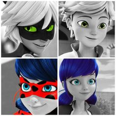 Chat Noir/Adrien | Ladybug/Marionette | Miraculous: Tales of Ladybug and Chat Noir