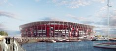 Qatar unveils first-ever FIFA World Cup stadium to be built from shipping containers