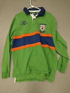 Ralph Lauren Polo Club 1st Eastern Division Polo Rugby Shirt Custom Fit Size 2XL