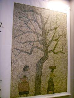 """#박수근 Park Soo Keun #DDP saw Tree and Two Woman motive #박완서 Park Wansuh's novel Bare Tree #나목 & think #삼국유사 Korean history book learned at the lecture seminar. """"If I forget you likes (values) that Pine tree."""" #국문학 #Koreanliterature"""