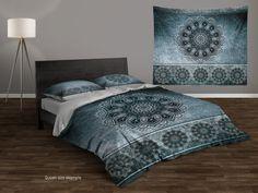 EASTER SALE Cool Mandala Duvet Cover Set. Boho Style Bedding Set. Boho Duvet Cover. Bohemian Duvet Cover Set. King, Queen, Twin,