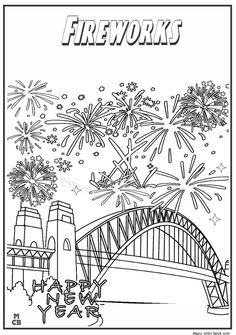 18 Best Fireworks Coloring pages images in 2016   Coloring books ...