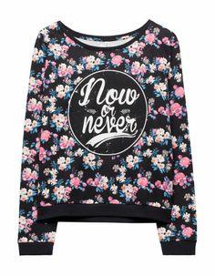 Flower detail sweatshirt