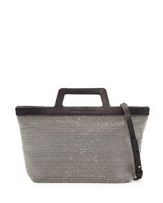 Mini Monili Tote Bag, Black/Silver - Brunello Cucinelli