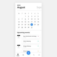 Hello again! 👋⠀ ⠀ Just finished the Calendar Section of our upcoming Mellow UI Kit. It's growing and growing, so you better stay tuned… Ios App Design, Mobile Web Design, Interface Design, Flat Web Design, User Interface, Ui Design Patterns, Design Layouts, Design Design, Calender App