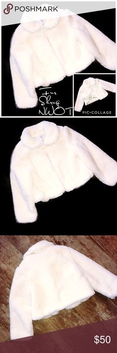 Gymboree Girl's White Fur Shrug *NWOT* Size 5/6 Gymboree Girl's White Fur Shrug *NWOT* Size 5/6 - Satin Lined Gymboree Jackets & Coats Capes