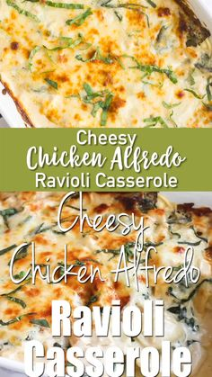 This one would make your grandmother proud! Cheesy Chicken Alfredo Ravioli Casserole is a creamy pasta bake that's loaded with chicken & spinach and is sure to leave cheese lovers drooling! Side Dish Recipes, Easy Dinner Recipes, Easy Meals, Ravioli Dinner Ideas, Kid Meals, Weeknight Meals, Easy Casserole Recipes, Casserole Dishes, Doritos Casserole