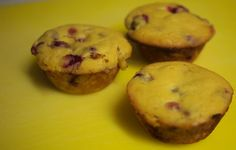 Lemony Cranberry #Muffins - #Paleo Friendly! A great way to start the day or a great #snack for the afternoon. Ingredients: 1/2 cup coconut flour, 6 organic eggs, 2 tbsp honey, ...