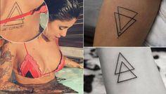 tatuagem triangulo gabi rippi montagem 117 400x800 New Tattoos, Body Art Tattoos, Small Tattoos, Tatoos, Body Tattoo Design, Tattoo Designs, Triangles, Warrior Makeup, Beach Friends