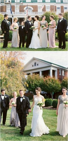 Picture with bridesmaids and groomsmen at the Marth Washington Inn in Abingdon, Virginia Bridesmaids And Groomsmen, Bridesmaid Dresses, Wedding Dresses, Outdoor Wedding Reception, Wedding Ceremony, Abingdon Virginia, Bhldn, Engagement Photography