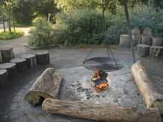 Valbyparken fire pit and seating area by timrgill, via Flickr