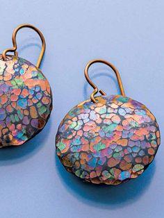 Anodized Niobium Earrings; Michael Mara; Lapidary Journal Jewelry ...