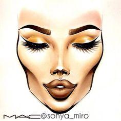 Sonya Miro Face Chart