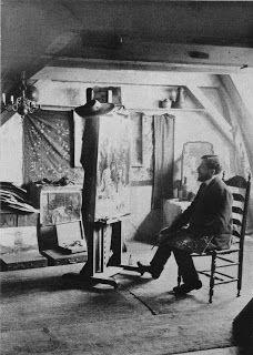 Piet Mondrian 's studio, Amsterdam 1905