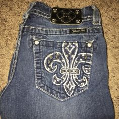 Miss Me Miss me boot cut jeans, rarely worn perfect condition, size 26. Miss Me Jeans Boot Cut