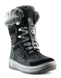 ENMAYER Womens Gorgerous Furry Buckle up Snow Boots for Cold Climate